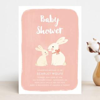 rabbit love Baby Shower Invitations