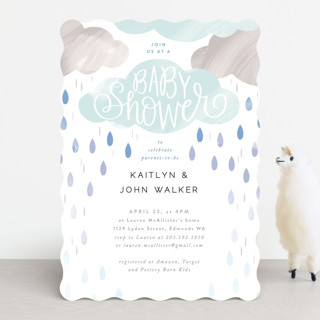 Rainy Day Baby Shower Baby Shower Invitations