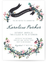 Floral Hand Painted Bridal Shower Invitations