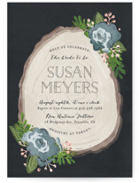 Rustic Wooded Romance Bridal Shower Invitations