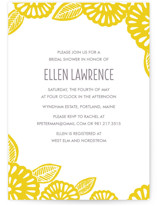 Bold Block Print Bridal Shower Invitations