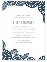 Bold Block Print Bridal Shower Invitations