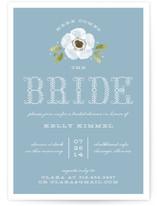 Vintage Painted Flower Bridal Shower Invitations