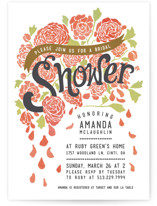 Raining Peonies Bridal Shower Invitations