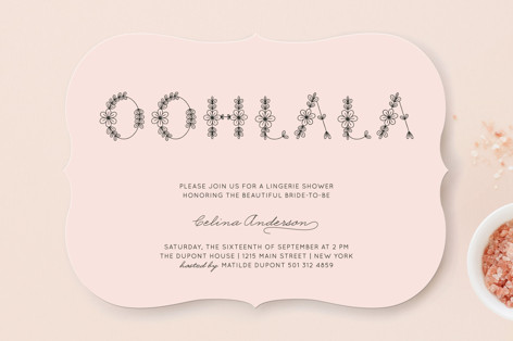 Ohlala Chic Bridal Shower Invitations