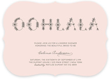 Ohlala Chic Bridal Shower Invitations