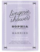 Boudoir Bridal Shower Invitations