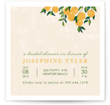 Orange Tree Bridal Shower Invitations