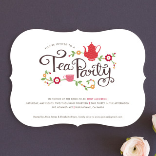 Tea Party Bridal Shower Invitations By Kristen Smi Minted