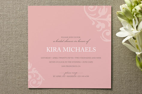chocolat et crme Bridal Shower Invitations