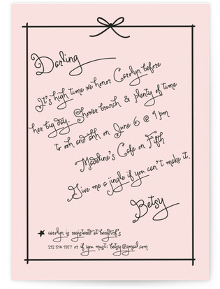 Pass the Macaroons Darling Bridal Shower Invitations