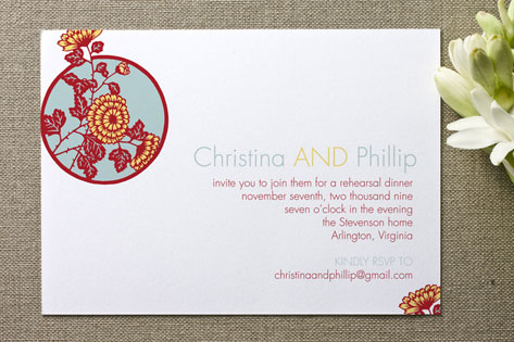 East Meets West Bridal Shower Invitations