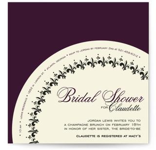 French Fantaisie Bridal Shower Invitations