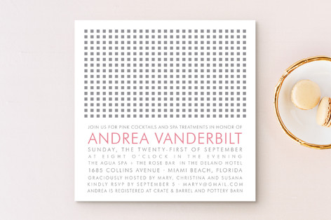 Swanky Hotel Bridal Shower Invitations