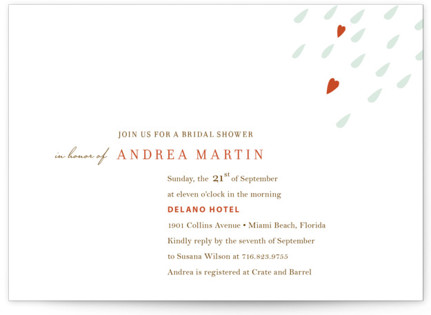 Love is in the Air Bridal Shower Invitations