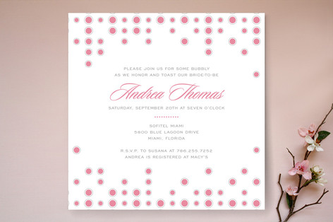 Lovely Bubbly Bridal Shower Invitations