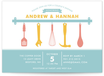 His and Hers Couple's Bridal Shower Invitations