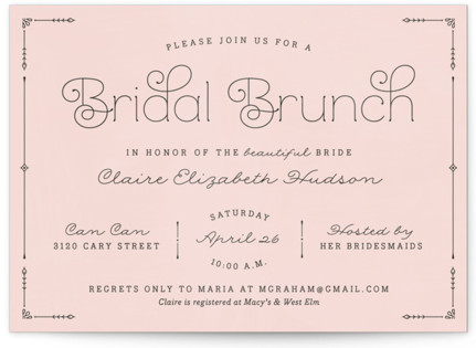 Blushing Brunch Bridal Shower Invitations