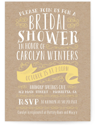 Delightful Bridal Shower Invitations