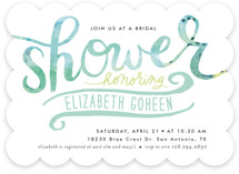Painted Script Swash Bridal Shower Invitations