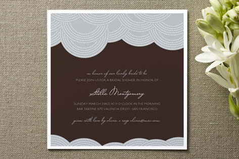 Pearls on a String Bridal Shower Invitations