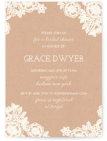 Lace and Kraft Bridal Shower Invitations