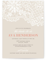 White Lace Bridal Shower Invitations