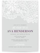 White Lace Bridal Shower Invitations