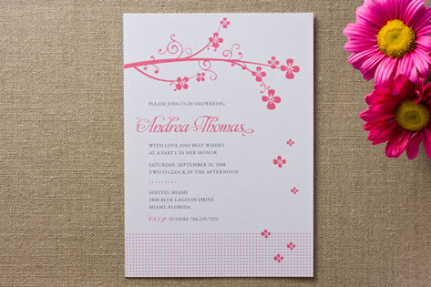 Sweet Blossom Bridal Shower Invitations