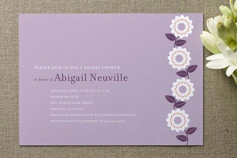 Spring Soiree Bridal Shower Invitations