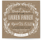Kraft Circle Bridal Shower Invitations