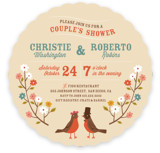 Robin's Garden Couple Bridal Shower Invitations