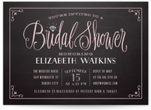Diamond Chalkboard Bridal Shower Invitations