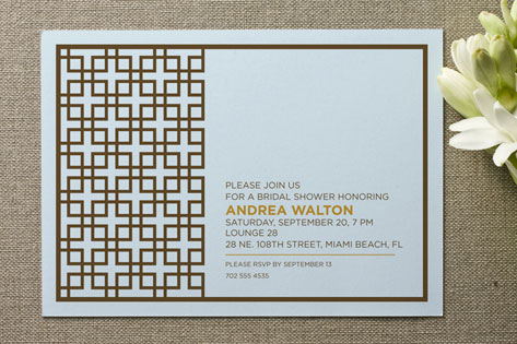 Treillis Moderne Bridal Shower Invitations