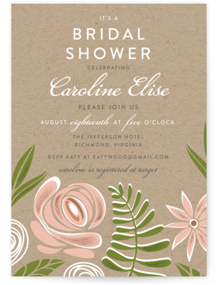 Southern Krafted Bridal Shower Invitations