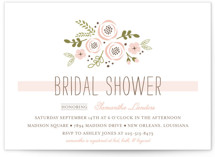 Soft Florals Bridal Shower Invitations
