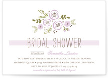 Soft Florals Bridal Shower Invitations
