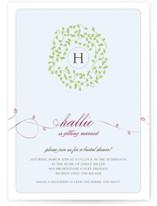 A Bride Wreath Bridal Shower Invitations