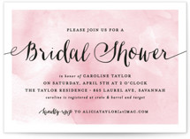 Watercolor Shower Bridal Shower Invitations