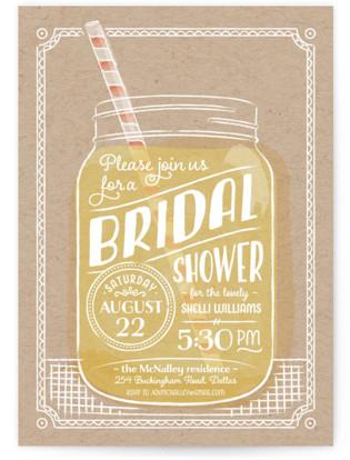 Summer Sippin' Bridal Shower Invitations