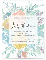 Among the Flowers Bridal Shower Invitations