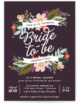 Banner Names Bridal Shower Invitations