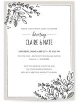Corner Garden Bridal Shower Invitations