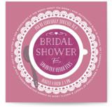 Dainty Doily Bridal Shower Invitations