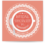 Dainty Doily Bridal Shower Invitations