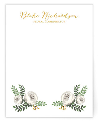 Painted Florist Business Stationery Cards