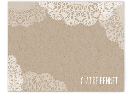 Doilies On Craft Business Stationery Cards