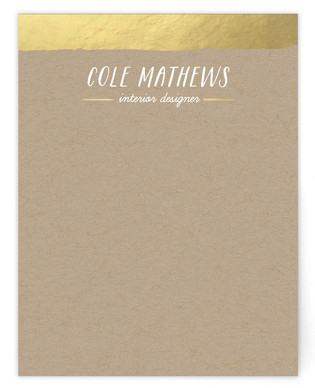 Gold Dip Business Stationery Cards