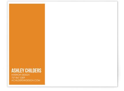 Citrus Chevron Business Stationery Cards