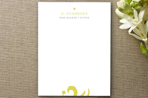Walkin' the Dog Business Stationery